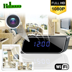 1080P WIFI Wireless Mini Clock Camera Time Alarm Watch Security Night Vision Motion Sensor AP/IP Remote Monitor Micro Home