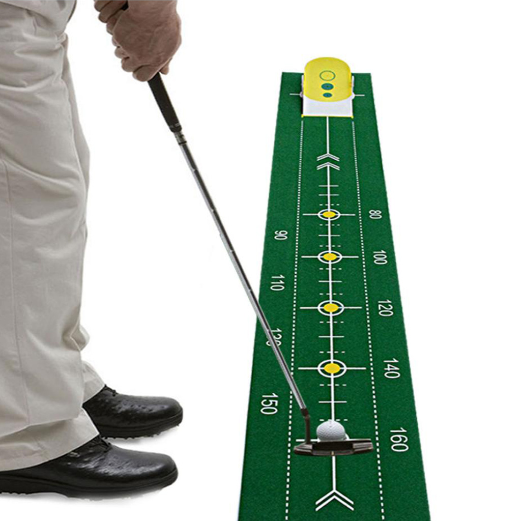 Profesyonel Taşınabilir Roll Up Doğru Golf Kulübü Putt Eğitmen Koyarak Yeşil Mat Simülatörü Kapalı Açık Eğitim Yardım Ekipmanları
