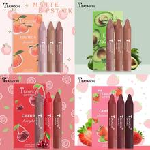 Lipstick-Set Makeup Non-Stick Matte Waterproof TSLM1 3pcs Cup Velvet Smooth No-Fading