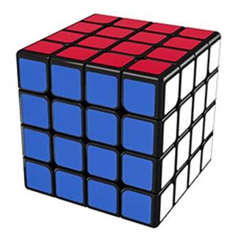 Cubo mágico MoYu AoSu WR 4x4, rompecabezas de cubos de Velocidad Profesional, juguetes educativos para estudiantes Regular/afinación fina-negro sin pegatinas