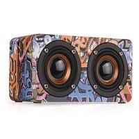 M5 Sound Box Dual Wooden FM Radio Stereo Wireless Bluetooth Bass Portable Speaker Outdoor