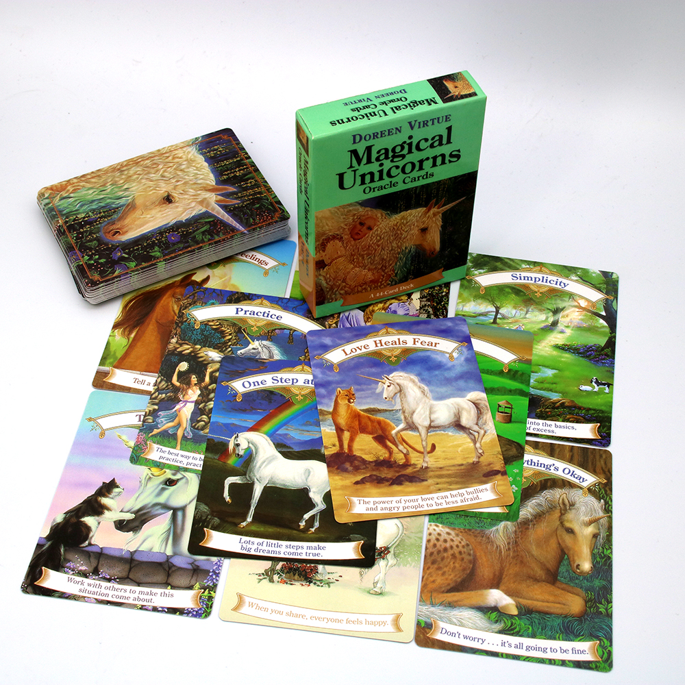 Magical Unicorn Oracle Cards By  Doreen Virtue Guidance Related To Your Present Life, Your Future, And Your Spiritual Path