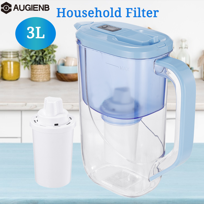 3L Water Filter Purifier Ionizer Net Kettle With Electronic Filter Indicator Display For Health Home Office