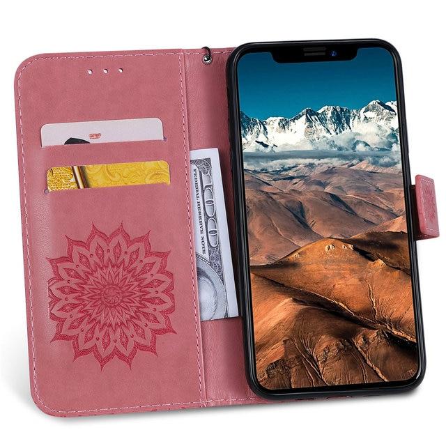 Luxury Flower Wallet Flip Case for iPhone 11/11 Pro/11 Pro Max 1