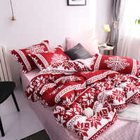 New Christmas Snowflakes Home bedding set 3/ 4pcs duvet cover set AB side bed linen flat sheet bedclothes adult Geometric