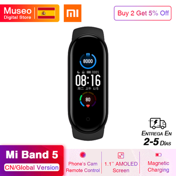 Original Xiaomi Mi Band 5 Smartband 4 Color 1.2'' Touch Screen Miband 5 Wristband Fitness Track Heart Rate Monitor
