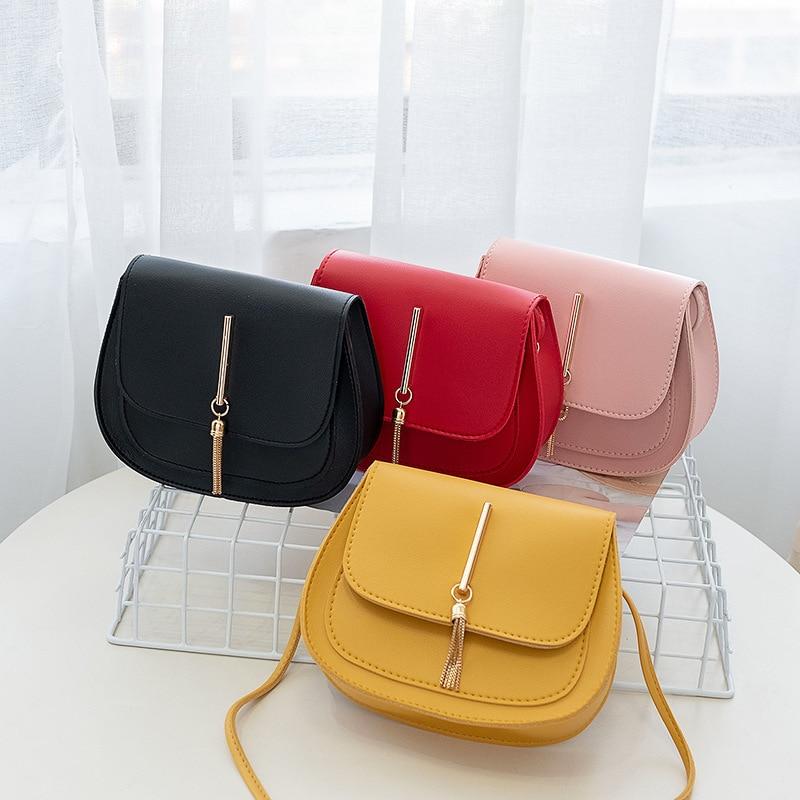 Fashion Small Messenger Bags Crossbody Bags for Women 2020 Mini Tassel Leather Shoulder Bag Bolsas Ladies Phone Purse
