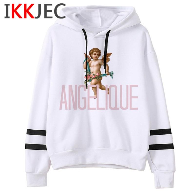New Angel Aesthetic Harajuku Hoodies Men/women Ullzang Funny Cartoon 90s Sweatshirt Winter Warm Grunge Graphic Hoody Male/female 7