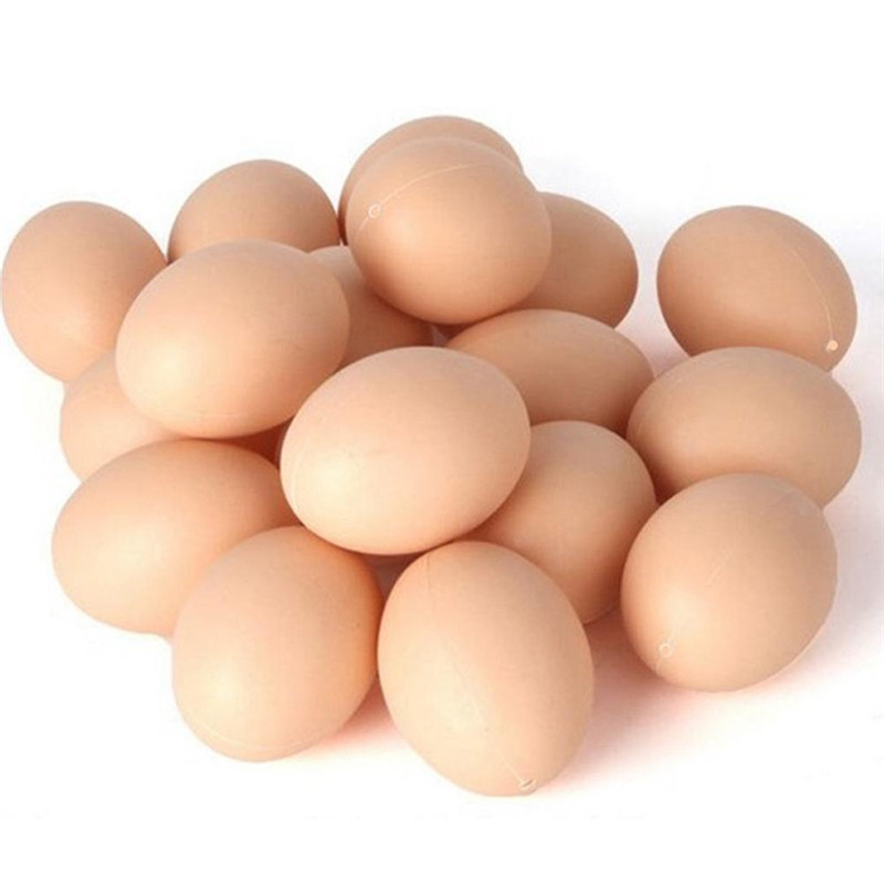 5Pcs Fake Dummy Egg Hen Poultry Chicken Joke Prank Plastic Eggs Party Decor Novelty Toy For Kids DIY