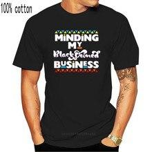 Camiseta empresário que cuida do meu negócio de propriedade preta camiseta preto-marinha... Camiseta de alta qualidade
