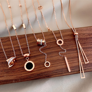 Stainless Steel Necklace for Women Choker Pendant Necklace Butterfly Chain No Fade Fashion Jewelry Wholesale