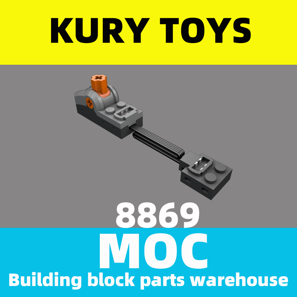 Kury Toys DIY MOC For 8869 Building block parts For Power Functions Control Switch For Electric