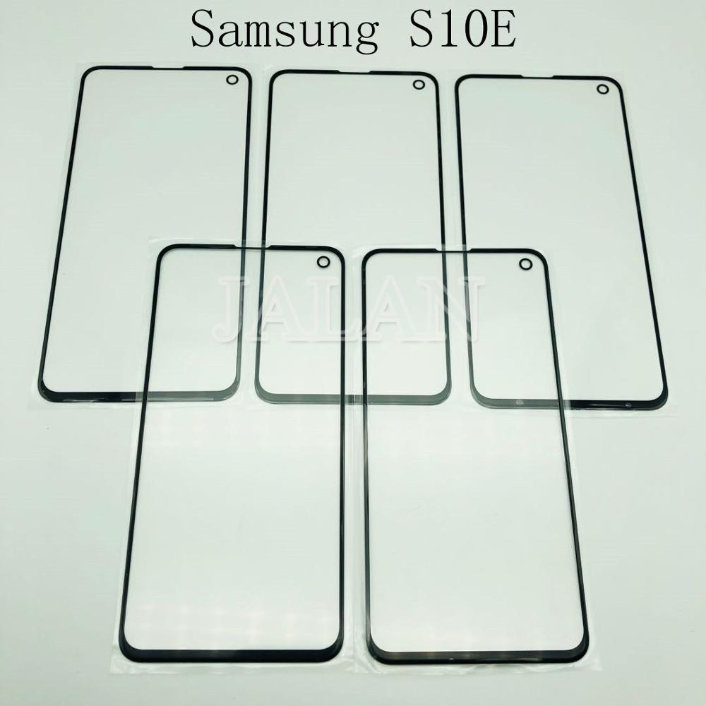 Jalan 5 Pcs Depan Kaca + OCA untuk Samsung Galaxy G970 S10E Rusak Kaca Pengganti Perbaikan