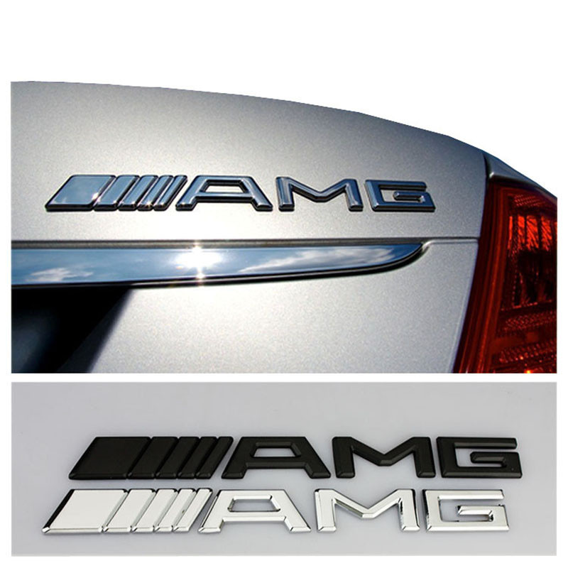 1pcs Car body sticker Car badge Emblem Labeling For <font><b>Mercedes</b></font> Benz AMG CLK CLA <font><b>A180</b></font> A200 A300 E220 S300 S350 C200 Car Accessories image