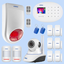 KERUI Outdoor Solar Flash Alarm WIFI Camera GSM Security Alarm System Suite Wireless Home Application Control Security System