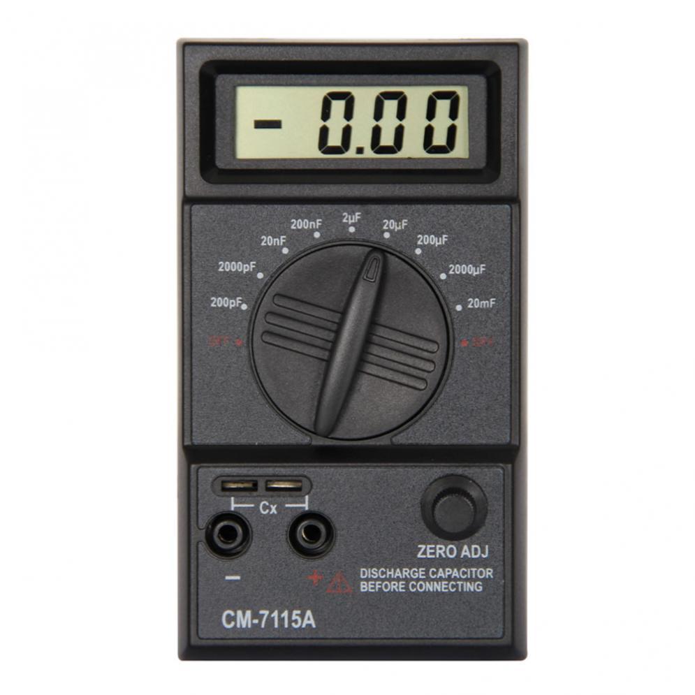 CM7115A Digital Practical Capacitor Meter Multimeter with Users Manual Test Leads|meter multimeter|multimeter meter|capacitor meter - title=
