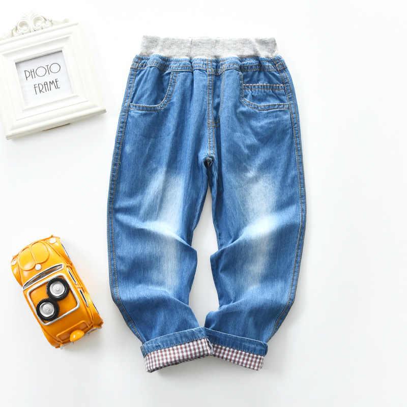 BBD Новинка; детские штаны 2021 для маленьких мальчиков; Сезон весна-осень; Мягкие хлопковые джинсы-варёнки младенцев От 2 до 7 лет; Штаны; Детская одежда