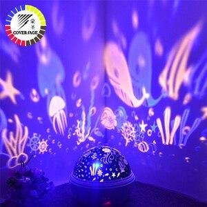Image 1 - Veilleuse rotative, projecteur de Spin, ciel étoilé, maître du sommeil pour enfants, romantique, lampe Led USB