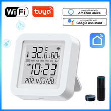 Tuya WIFI Intelligent Switch Temperature and Humidity Sensor Indoor Hygrometer Thermometer Detector Support Alexa Google Home