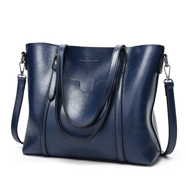 Acelure Women Bag Oil Wax Women S Leather Handbags Luxury Lady Hand Bags With Purse Pocket Women Messenger Bag Big Tote Sac Bols Best Promo Be350 Cicig