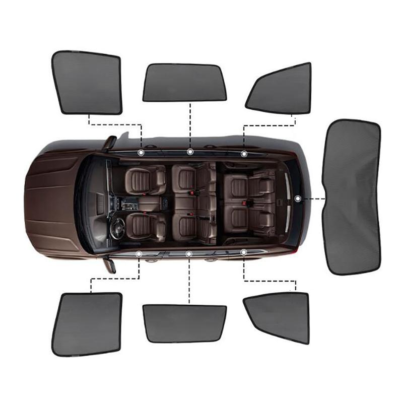 Für Toyota RAV4 RAV 4 2020 2019 Zubehör Magnet Auto sonnenschutz Mesh Sonnenschirm Seite Fenster Sonnenblende Sonnenschutz Isolierung 7Pcs
