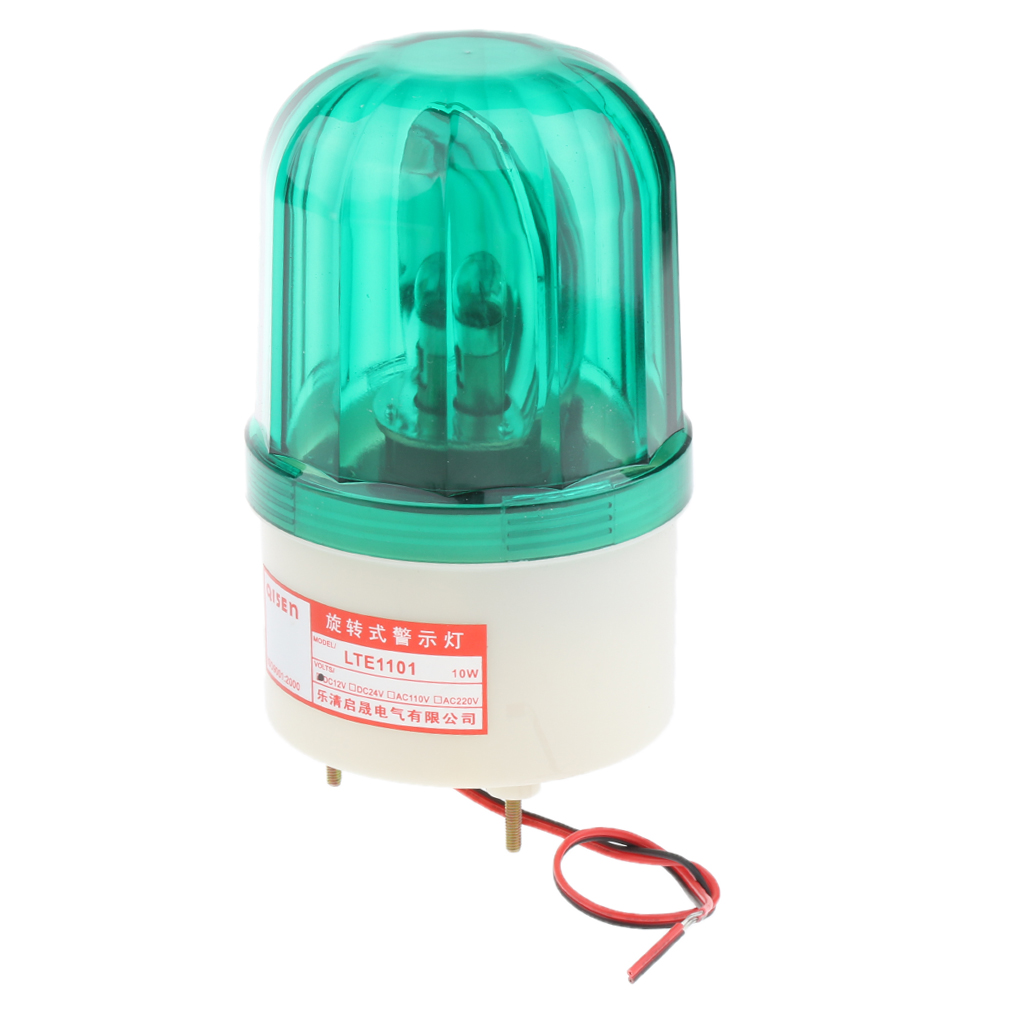 24V LED Rotating Strobe Warning Light Round Signal Beacon Flash Lamp Green