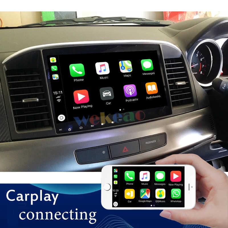 Wekeao Màn Hình Cảm Ứng 10.1 ''Android 9.0 Phát Thanh Xe Hơi Automotivo Cho Mitsubishi Lancer DVD Xe Hơi Tự Động Dẫn Đường GPS 2007 -2016