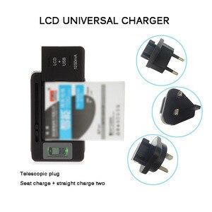"Image 4 - אוניברסלי נייד סוללה ארה""ב/האיחוד האירופי תקע מטען מתאם עם LCD מחוון מסך עבור טלפונים סלולריים USB יציאת עמיד ו חסין אש"