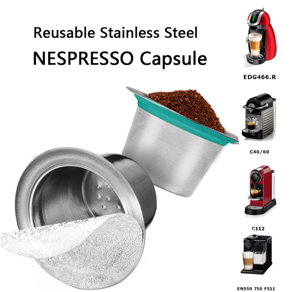 New Metal Coffee Filter Refillable Capsule Filter Cup Reusable Coffee Bags Barista Tools Compatible With Nestle Dolce Gusto