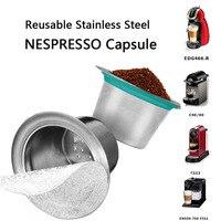Nowy metalowy filtr do kawy wielokrotnego napełniania nestle Dolce Gusto filtr kapsułowy kubek wielokrotnego użytku nespresso torba na kawę akcesoria baristy kompatybilny w Filtry do kawy od Dom i ogród na