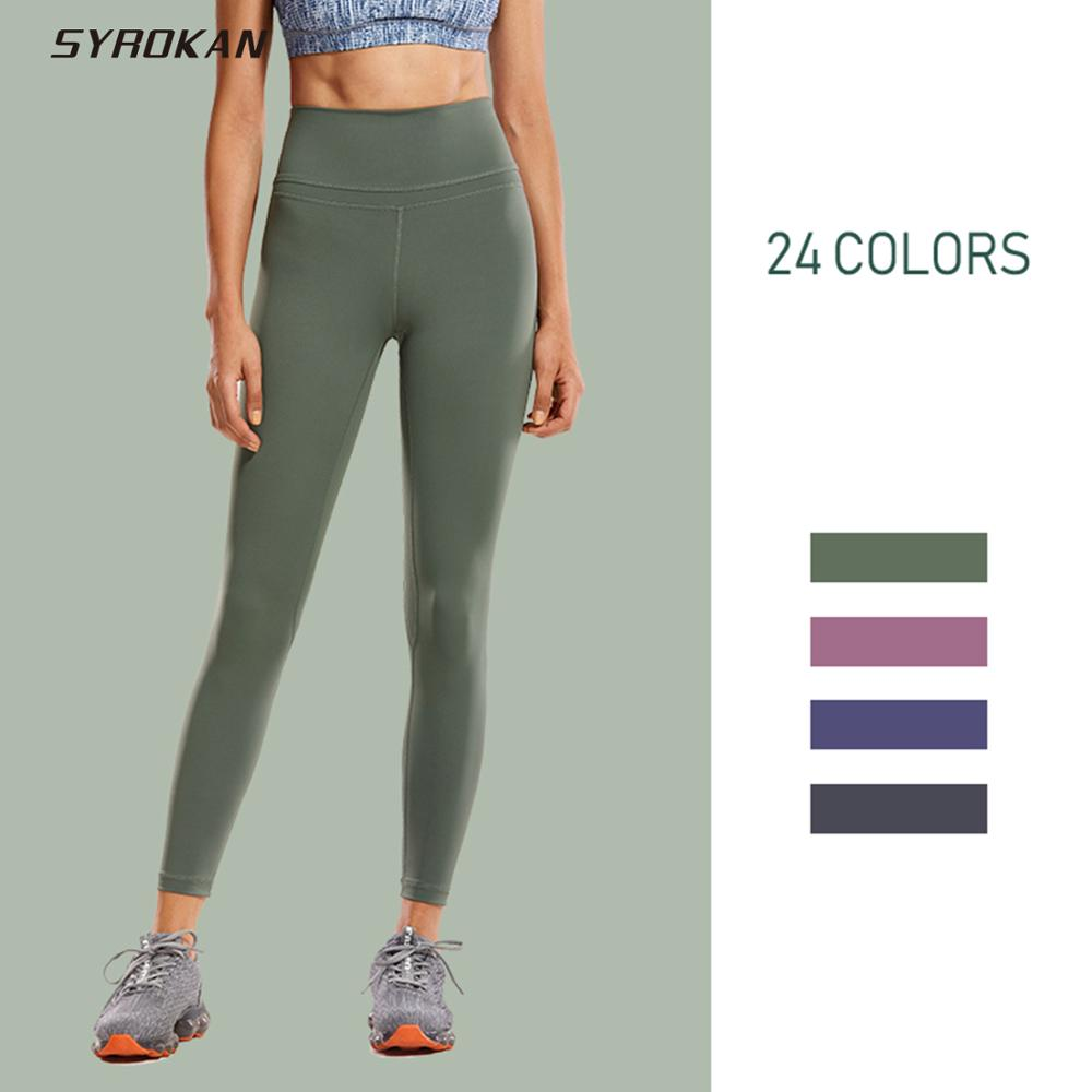 CRZ YOGA Naked Feeling High Waisted Workout Yoga Shorts for Women Athletic Running Volleyball Short Tight 4 Inches