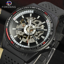 Forsining 2019 Rotating Bezel Sport Design Silicone Band Men Watches Top Brand L