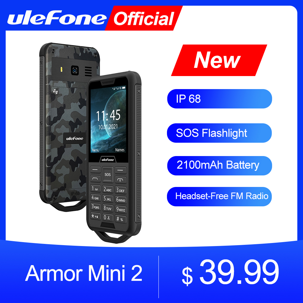 "Osłona Ulefone Mini 2 telefon komórkowy Outdoor Adventures telefon 2.4 ""Smartphone MTK6261D bezprzewodowe Radio FM 2100mAh 0.3MP Dual SIM"