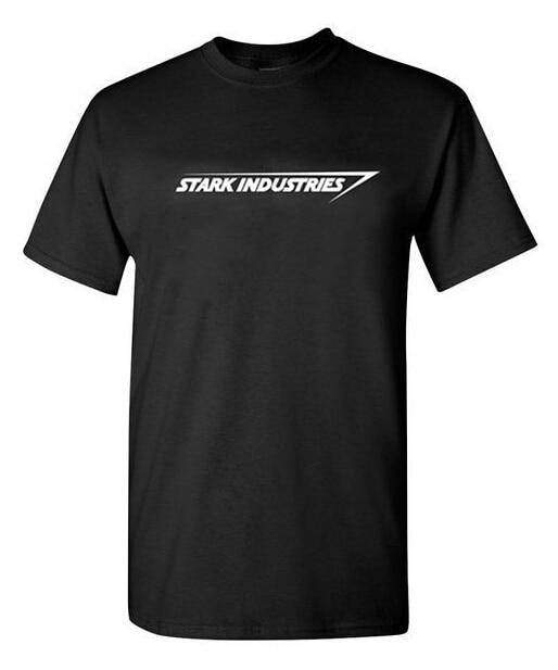 Stark Industries t shirt man MAN t shirts Clothing Cotton T Shirt Top Free Shipping Tee Shirts Oversize Streetwear For Men