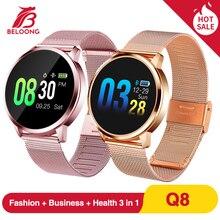 Upgrade BELOONG Q8 Rose Gold Smart Watch Fashion Electronics Men Women Waterproo