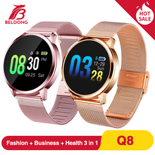 Upgrade BELOONG Q8 Rose Gold Smart Watch Fashion Electronics