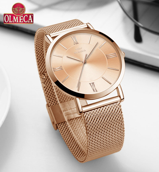 OLMECA Top Brand Women Watches Wrist Watch Luxury Watch Fashion Relogio Feminino 30m Water Resistant Drop-Shipping Sport Watches