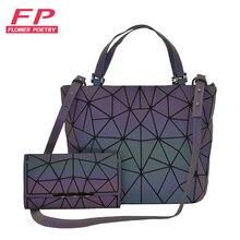 Female Purse Wallet Totes Shoulder-Bag-Set Geometric-Bucket-Bag Crossbody-Bag Women Handbag