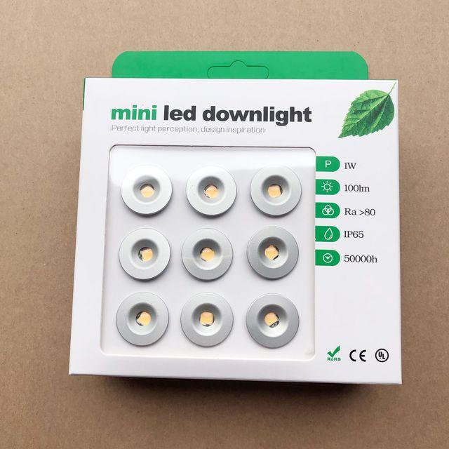 9 Stks/partij DC12V 1W Mini Led Downlight Bridgelux Chip Waterdichte IP65 Led Spot Licht Led Kast Licht Nieuwe Ontwerp