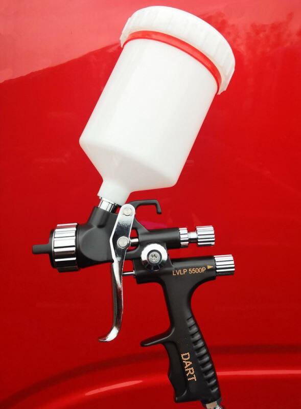 pneumatic gun Black  LVLP Pistol environmental airbrush spray gun w t tank car paint repair Sprayer gun