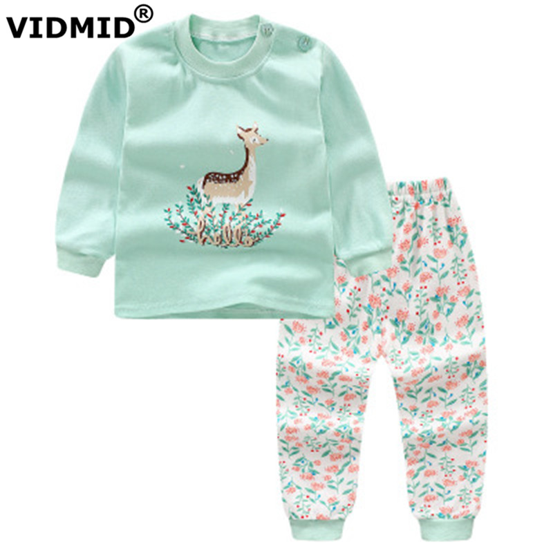 VIDMID Baby Girls Clothing sets Autumn Long Sleeve girls Clothes Sets Fashion cotton Kids for childrens 4051