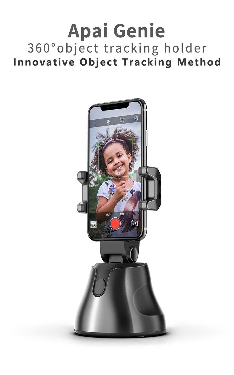 Portable Selfie Sticks 360 Rotation Auto-tracking Smart Capture