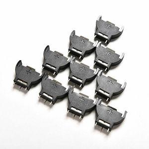 10 шт. CR2032 полукруглые литиевые кнопки для монет батарейный ящик держатель Чехол CR 2032 батареи держатель Гнездо 3 PIN