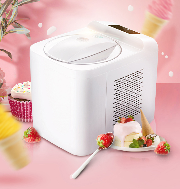1L Home Automatic Mini Ice Cream Machine Household Intelligent SELF-COLD DIY Ice Cream Maker 1L