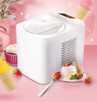 1L home automatic mini ice cream machine household intelligent SELF COLD DIY ice cream maker 1L