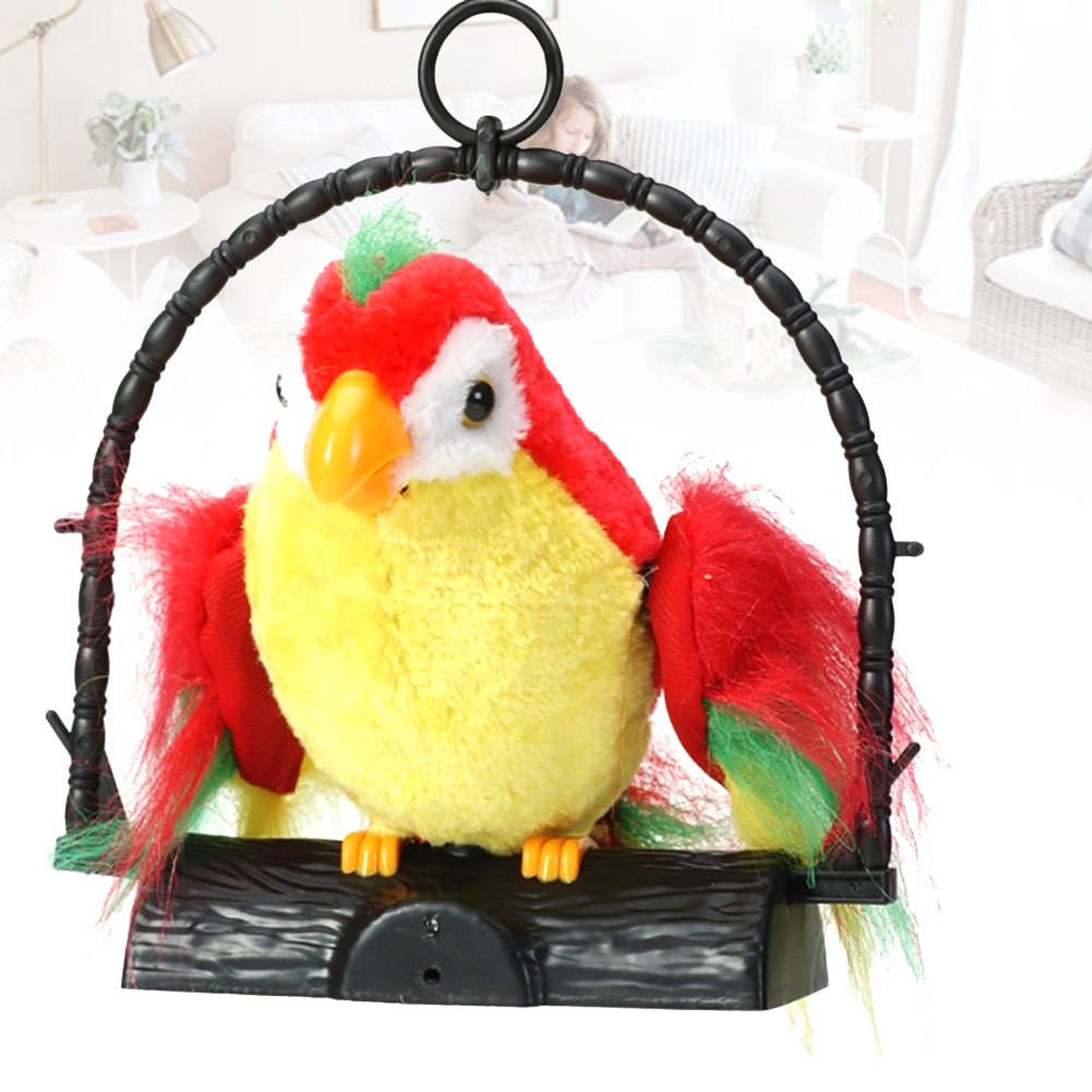 Party Mimics Electric Parrot Recording Home Decor Birthday Gift Kids Toy Prank Imitate Talking Hanging Sound Repeat Voice Funny