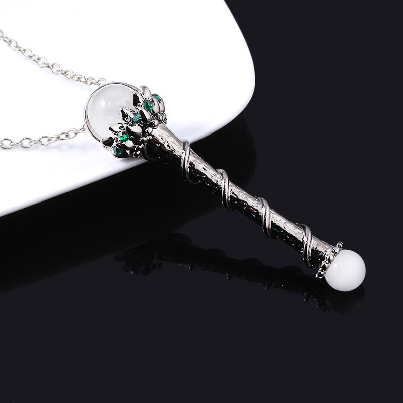 Movie Maleficent Cosplay Necklace Sleeping Beauty Maleficent Branch Wand Pendant Necklace for Women Girls Christmas Jewelry Gift in Pendant Necklaces from Jewelry Accessories