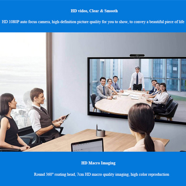 Web cam 1080P USB Digital Full HD Video Camera Auto Focusing Webcam Meeting Video with Microphone Video Call Computer Mini cam 6