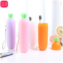 0817 Creative Radish Plastic Cups Toothbrush Cup Children's Washing Cup COUPLE'S Toothbrush Cup Sub-Travel Toothbrush Case(China)