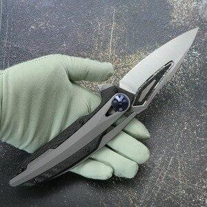 Image 5 - Kanedeiia ZT0999 M390 lame TC4 titane CF poignée couteau pliant utilitaire camping chasse survie tactique couteaux EDC outil